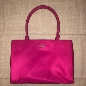 Kate Spade Phoebe Fuchsia Pink Nylon Box Bag Purse